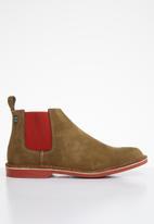 Veldskoen - Chelsea boot - brown & red