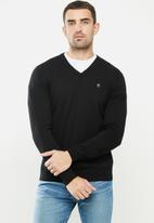 G-Star RAW - Classic sport v knit - black