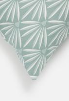 Sixth Floor - Deco line cushion cover - duckegg
