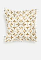 Sixth Floor - Inverse cushion cover - white & mustard