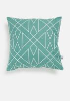 Sixth Floor - Tribal outdoor cushion cover - blue