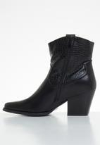 Plum - Raven cowboy boot - black