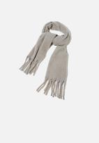Rubi - Phoebe brushed tassel scarf - grey marle