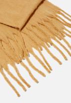 Rubi - Phoebe brushed tassel scarf - soft camel