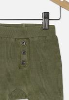 Cotton On - The waffle pant - silver sage