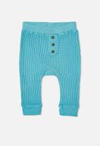 Cotton On - The waffle pant - blue ice