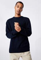 Cotton On - Crew knit - navy nep