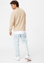 Cotton On - Crew knit - textured natural