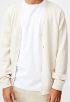 Cotton On - Essential cardigan - ecru marle