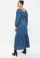AMANDA LAIRD CHERRY - Sand dress - blue