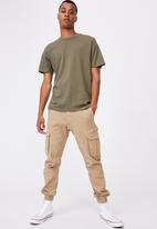 Cotton On - Essential crew neck short sleeve tee - military