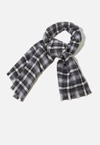 Rubi - Millie mid weight scarf - black and white jamie check