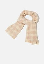 Rubi - Millie mid weight scarf - barley charlotte check