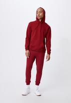 Cotton On - Essential fleece pullover - sun dried red
