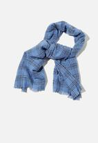 Rubi - Millie mid weight scarf - air blue charlotte check