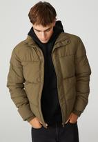 Cotton On - Essential recycled puffer - olive