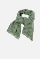 Rubi - Millie mid weight scarf - pistachio green charlotte check