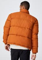 Cotton On - Essential recycled puffer - rust