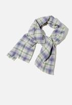 Rubi - Millie mid weight scarf - navy jamie check