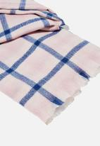 Rubi - Millie mid weight scarf - lilac bloom jamie check