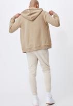 Cotton On - Essential zip thru - gravel stone