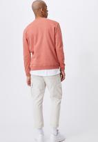 Cotton On - Graphic crew fleece - peach splash/detroit iron