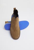 Veldskoen - Chelsea boot - brown & blue
