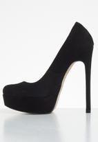ALDO - Kassandra suede heel - black