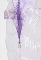 POP CANDY - Girls hooded puffer jacket - purple pearlescent