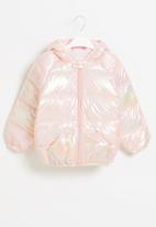 POP CANDY - Girls hooded puffer jacket - pink pearlescent