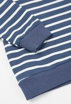 POP CANDY - Boys stripe crewneck - blue & white