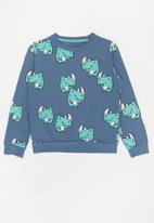 POP CANDY - Boys printed crew - blue