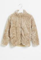 POP CANDY - Fuzzy jacket - brown