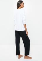 Superbalist - Sleep tee & pants set - black & white
