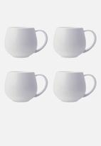 Maxwell & Williams - Basics snug mug - set of 4 white