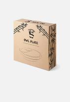 Nicolson Russell - Bamboobino Suction owl plate - pink