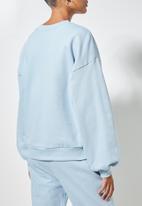 Superbalist - Balloon sleeve sweat - blue