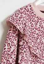 POP CANDY - Younger girls frill fleece dress - pink