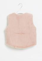 POP CANDY - Girls sleeveless faux fur coat - pink