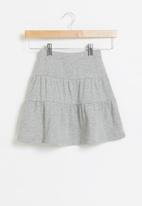 POP CANDY - Younger girls tiered skirt - grey