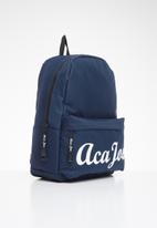 Aca Joe - Mens aca joe printed backpack - navy