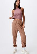 Cotton On - Classic track pants - cocoa brown