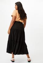 Cotton On - Curve jasmine maxi skirt - black