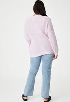 Cotton On - Curve lush dad cardigan - lilac