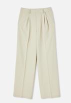 Cotton On - Jordan oversized pleat pants - silver lining