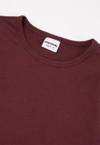 POP CANDY - Younger girls long sleeve tee - burgundy