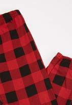 POP CANDY - Long sleeve tee & pants pj set - black & red
