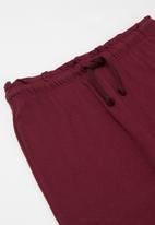 POP CANDY - Younger girls easy jersey pants - burgundy