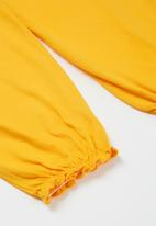 POP CANDY - Younger girls easy jersey pants - yellow