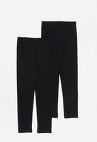 POP CANDY - Younger girls 2 pack leggings - black